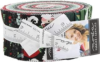 BasicGrey Kringle & Claus Jelly Roll 40 2.5-inch Strips Moda Fabrics 30590JR