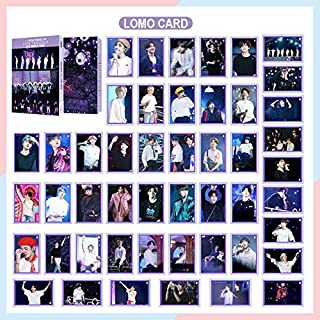 Kpop BTS LOMO Cards Set 54Pcs World Tour Bangtan Boys Photo Postcard Set Greeting Card Gift for Fans Daughter