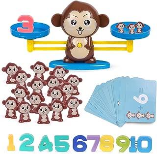 Refasy Children Balance Math Game STEM Learning Toys for Kids(65-Piece Set)