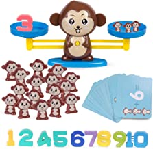 Refasy Children Balance Math Game STEM Learning Toys for Kids(65-Piece Set)