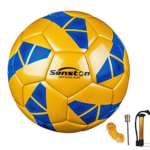 Senston Allenamento Palloni da Calcio - Official Palloni da partita Adulto e bambini Football Pallone da calcio taglia 5 - con la pompa di calcio / Ad