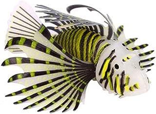 NGe 1pcs Luminous Plastic Lionfish Ornament for Fish Tank Aquarium Decoration