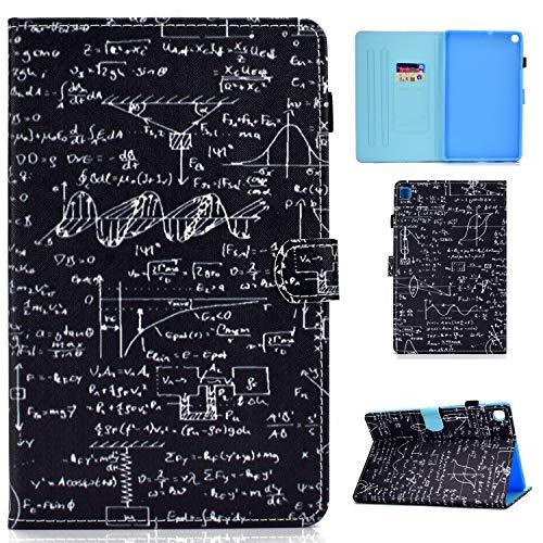 Jajacase Funda Folio Samsung Galaxy Tab S6 Lite 10.4 2020 SM-P610/P615-Slim Carcasa Cuero PU Silicona y Multiángulo y Soporte Case Cover Protector-Matemáticas