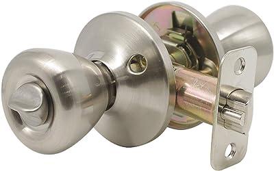 Gobrico Tulip-Style Keyed-Alike Exterior Door Hardware Entrance Locksets Knob, Satin Nickel 3Pack