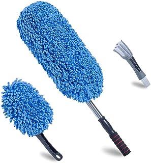 Loyakuu (3 Pack) Microfiber Car Duster Extendable Handle Interior Exterior Multipurpose Cleaning Car Brush(Medium)