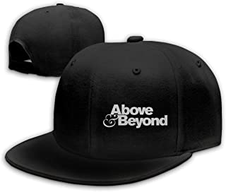 Above and Beyond Vintage Washed Distressed Cotton Dad Hat Baseball Cap Adjustable Polo Trucker Unisex Style HeadwearBlack