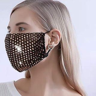 Ushiny - Maschera glitterata con cristalli scintillanti, ideale per feste in maschera e feste in maschera, accessorio per ...