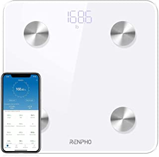 RENPHO Smart Body Fat Scale Bluetooth Digital Bathroom Scales Wireless Weight Scale BMI Scale Body Composition Monitor wit...