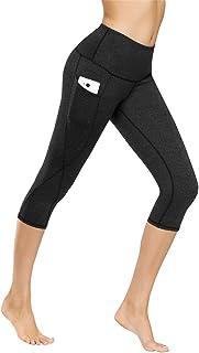 Kyopp High Waist Yoga Pants Tummy Control Workout Running 4 Way Stretch Yoga Leggings Women Capris Power Flex Pants