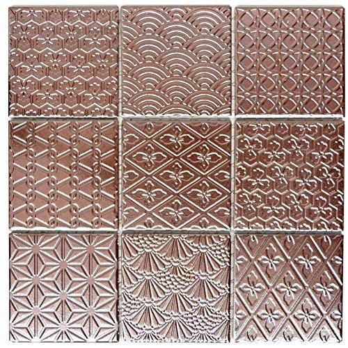 Retro Vintage Mosaik Fliese Keramik Spirit Kupfer für WAND BAD WC DUSCHE KÜCHE FLIESENSPIEGEL THEKENVERKLEIDUNG BADEWANNENVERKLEIDUNG WB22B-1415