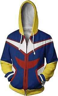 My Hero Academia BNHA All Might Hoodies Sweatshirt Cosplay Costume Jacket
