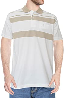 PL Fashion's Men's 100% Cotton Polo (offwhite, with cut and sow) - Beige, Small- Milan Style