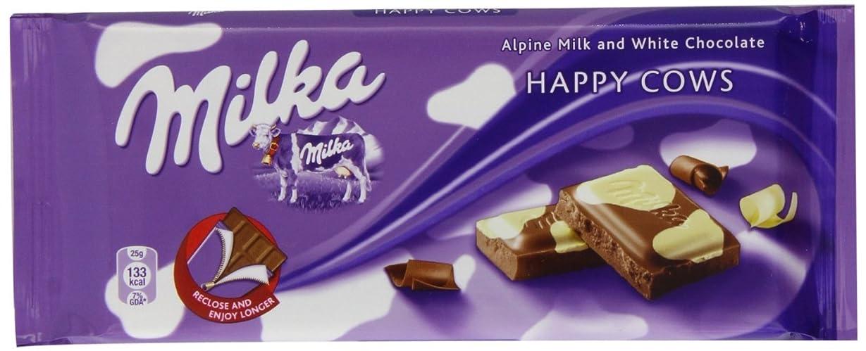 国家考古学的なチューブミルカ アルペンミルク&ホワイトチョコレート 3 枚セット Milka Alpine Milk and White Chocolate Happy Cows 3 x 100g 【並行輸入品】【海外直送品】
