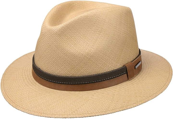 Cappello panama vermaron traveller uomo - stetson 2468416