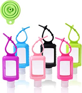 60ml Empty Travel Bottles with Clips 6pcs Portable Plastic Containers and Free Funnel Contain Hand Sanitiser Quickly for K...