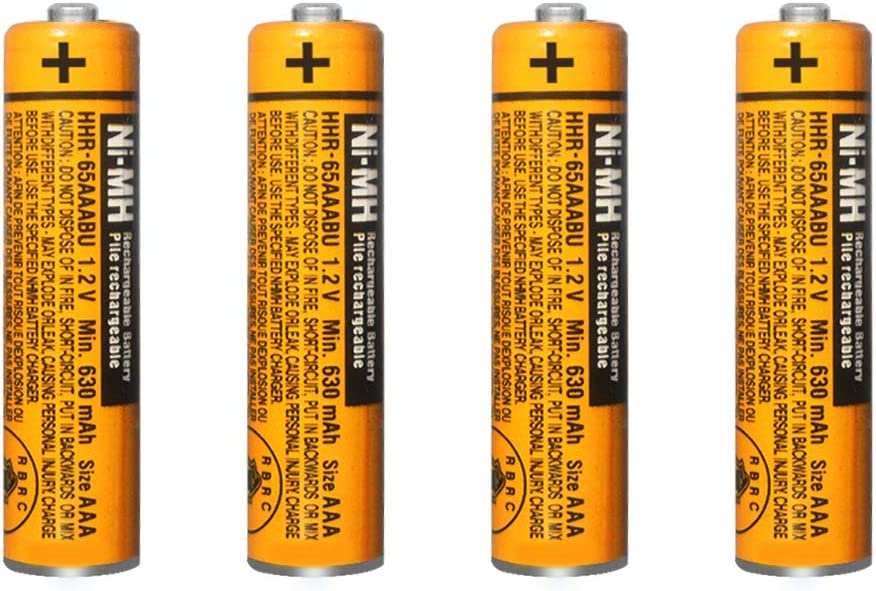 4 Pack Tucson Mall HHR-65AAABU NI-MH Rechargeable Max 50% OFF for Panasonic Battery 1.2V