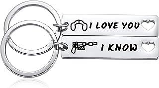 2pcs I Love You I Know Keychain Star Wars Couple Gifts Set to Boyfriend Husband Girlfriend Wife for Valentine's Day Weddin...