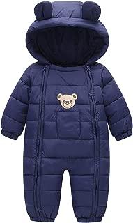 Baby Winter Romper Winter Thermal Snowsuit Jumpsuit Cute Hooded Coat 3-18 Months