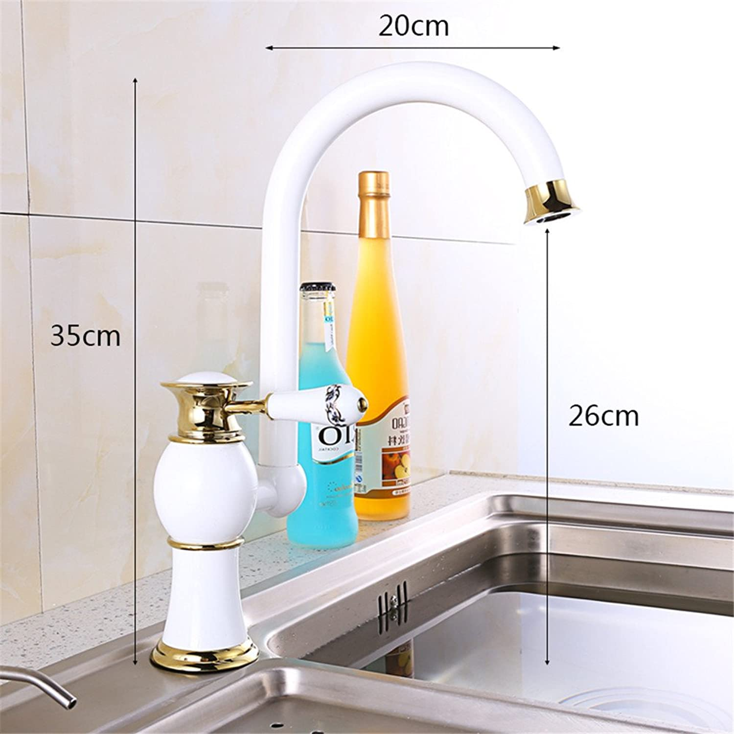All copper porcelain hot and cold redation KITCHEN FAUCET C retro bench Basin