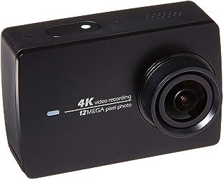 Cámara de acción YI 4k y estabilizador Manual de cardán de 3 Ejes Soporte de cámara PTZ con Palo para Selfie Control Remoto Bluetooth y Estuche de Viaje
