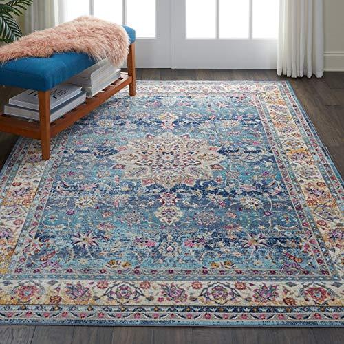 Nourison Vintage Kashan Multicolor Oushak Area Rug, 7