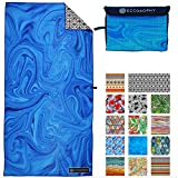 ECCOSOPHY Microfiber Beach Towel - Quick Dry Pool Towels 71x35 inches Oversized Travel Towel - Lightweight Compact Beach Accessories - Large Sand Free Micro Fiber Beach Towels (Laguna)