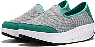 Yong Ding Women Walking Shoes Slip On Sneakers Breathable Trainers Lightweight Loafer Mesh Athletic Running Shoes