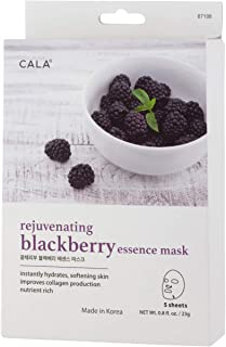 Cala Blackberry essence mask sheets 5 count, 5 Count