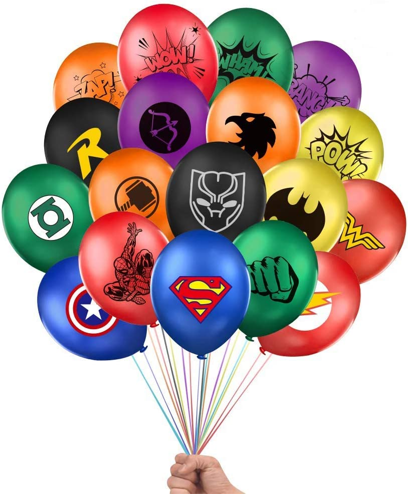 Superhero Party Supplies 36Pcs Superhero Balloons 12