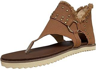 T- Slippers voor dames, met ritssluiting, slip-on, platte sandalen, casual vrijetijdsschoenen, halfhoge schoenen, slippers...