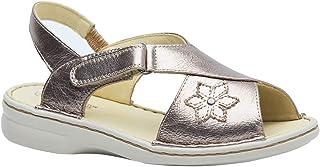 Sandália Feminina em Couro Metalic 293M Doctor Shoes
