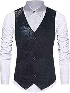 Men's Single Breasted Suit Waistcoat Business Vest Tuxedo Modern Casual Casual Slim Fit Vest V Neck Blazer Wedding Suit Ve...