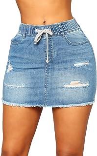 0fcb9ea4f Amazon.es: Faldas De Jean - S / Mujer: Ropa