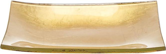 حامل شموع زجاجي ذهبي 13 سم من هارموني
