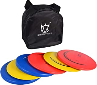 CROWN ME Disc Golf Set with 6 Discs and Starter Disc Golf Bag Fairway Driver, Mid-Range, Putter Disc