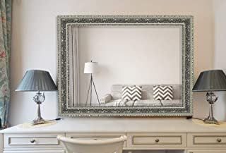 Hitchcock Butterfield Heirloom Traditional Silver Framed Wall Mirror, 18.5