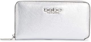 bebe Metal Logo Leather Wallet