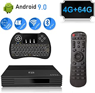 Android 9.0 TV Box 4GB Ram 64GB A95X Smart Android TV Box with Mini Wireless Keyboard Amlogic S905 X2 CPU Support HDMI 2.1/H265 VP9/Dual WiFi 2.4G 5.0G/100M LAN/Buletooth/USB3.0 3D 4K Android Box