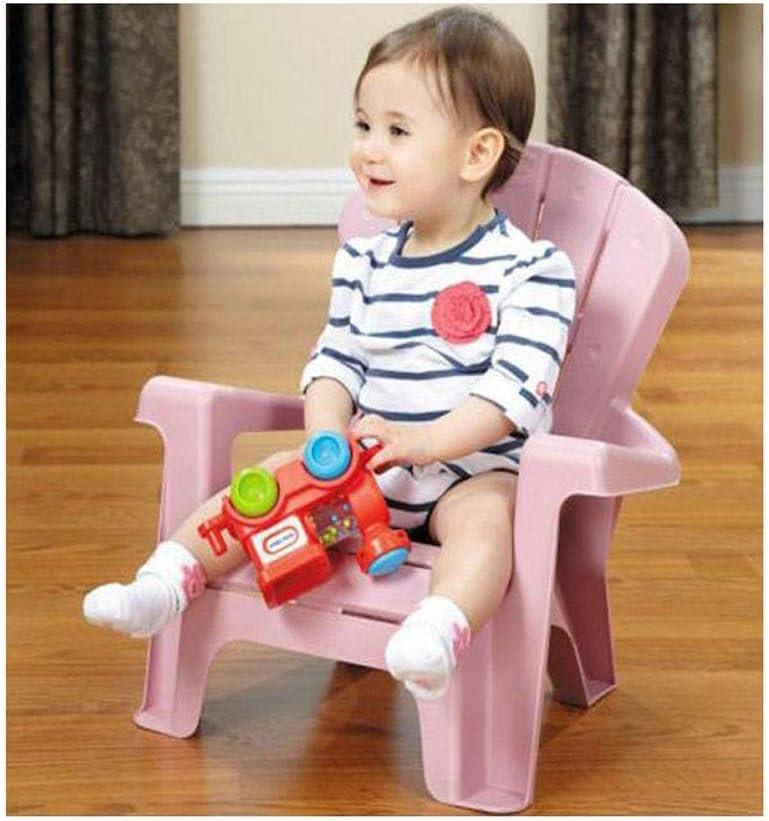 LANTIAN Chaise de Divertissement de Jardin pour Enfants Chaise de bébé Quatre Couleurs (Vert, Orange, Rouge, Rose) (Color : Pink) Red