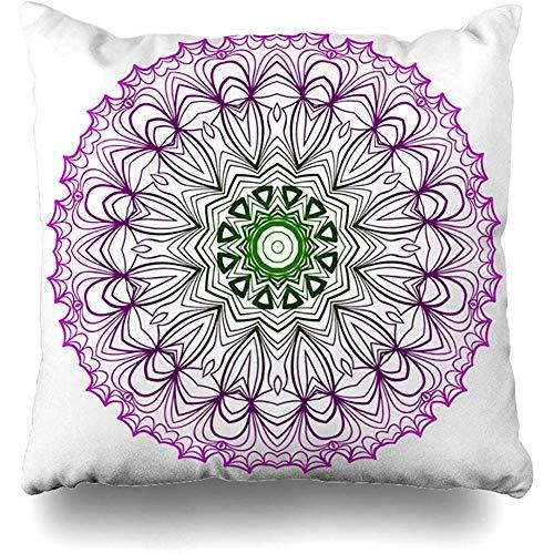 Fodera per cuscino nativo asiatico moderno Floreale Festività Arabo Orientale Azulejo marchio della Boemia Ceramica Azienda Design Federa Design per la casa Design Quadrato Dimensioni 50x50 cm (20 pollici) Federa