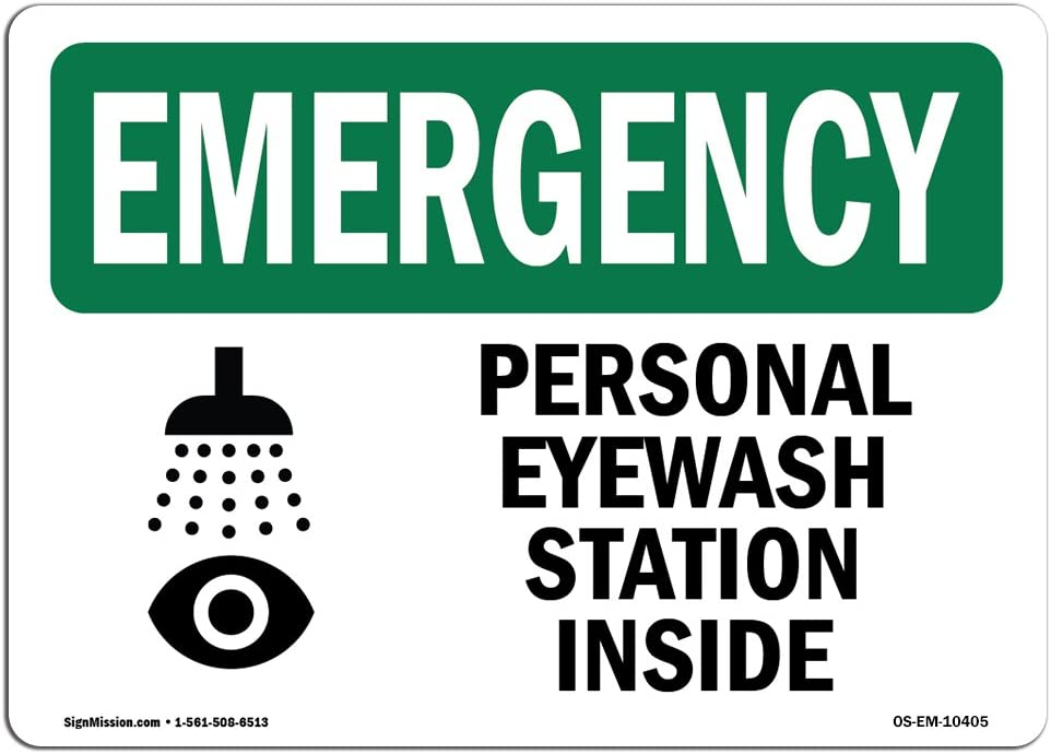 OSHA Emergency Ranking Max 70% OFF TOP20 Sign - Personal Station Inside Eyewash with Symbo