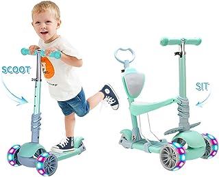 Baobë 5 en 1 niños Kick Scooter, Scooter Ajustable para ni