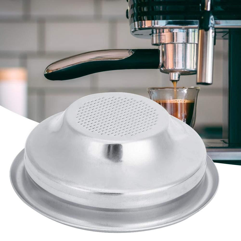 Filtros de café reutilizables de 58 mm, filtro individual y doble poroso, cesta de filtro semiautomático, filtro de mango sin fondo para cafetera Doble.: Amazon.es: Hogar