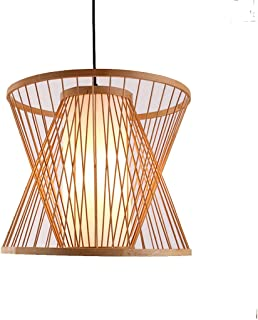 TongLingUSL New Chinese Chandelier Living Room Lamp Sheepskin Chandelier Bedroom Lamp Chinese Retro Bamboo Chandelier