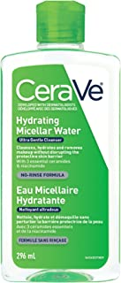 CeraVe Micellar Water Hydrating Facial Cleanser & Eye Makeup Remover, Fragrance Free & Non-Irritating, 296 ml
