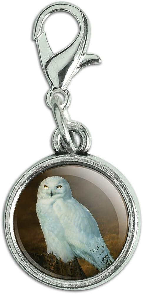 GRAPHICS MORE Snowy Many popular brands Arctic Owl latest Stump on Tree Bracelet Antiqued