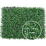 Paneles artificiales de boj, 4 piezas Cercas de plantas artificiales de boj, planta de cobertura artificial superior Protección de privacidad Paneles de vegetación 60cm * 40cm Paquete de 4