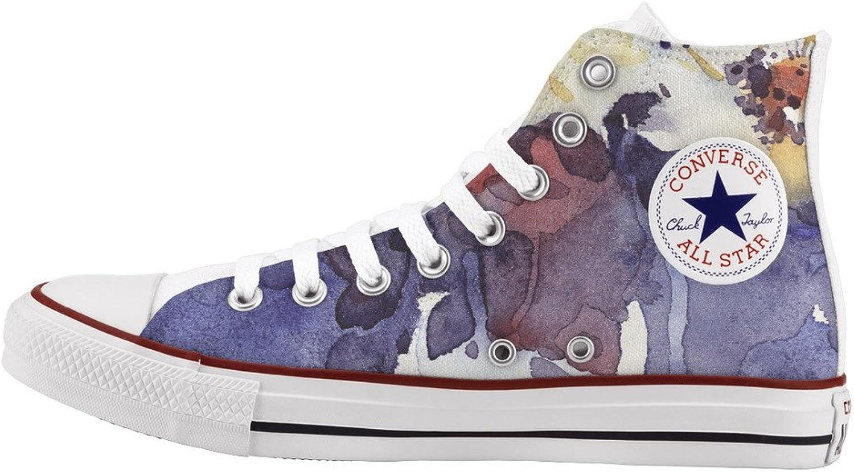 Converse All Star Personnalisé et imprimés - chaussures à la main - - Painted fFaibleers