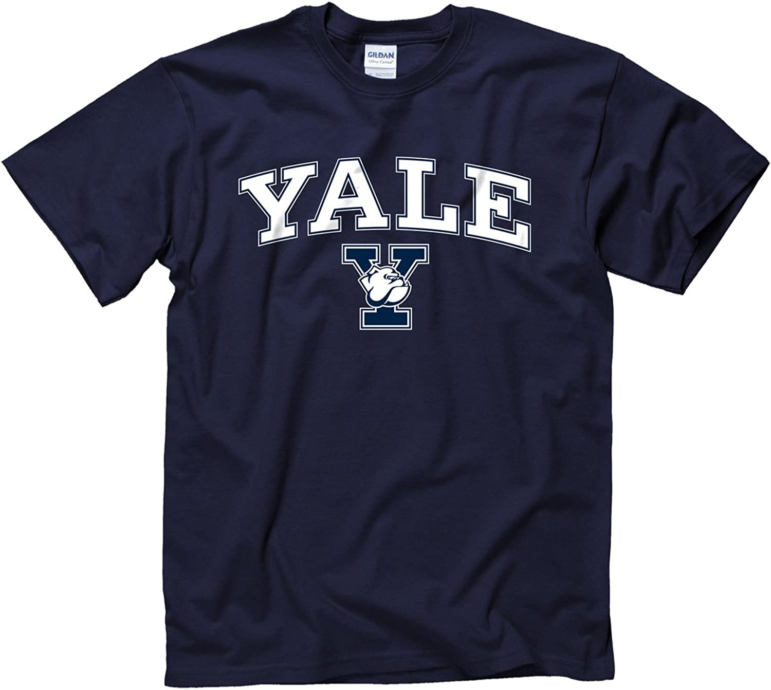 Yale Bulldogs Adult Arch and Logo TShirt  Navy
