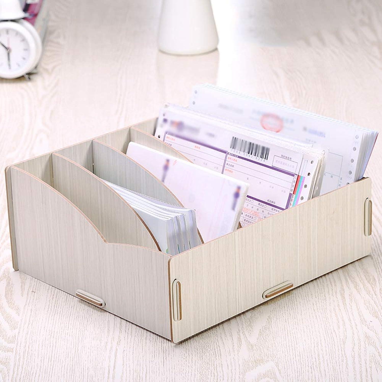 GaoJinZhuan Desktop-Aufbewahrungsbox Holz-Aufbewahrungsbox Finanzrechnungssortierbox Außer Empfang Quittung Express Single Storage (Farbe   Weiß Maple) B07LBCVG7M | Gewinnen Sie das Lob der Kunden